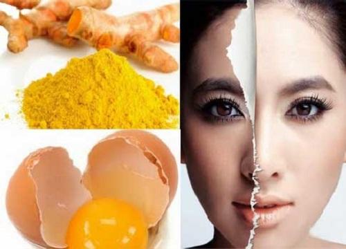 mặt nạ trứng gà ,tinh bột nghệ
