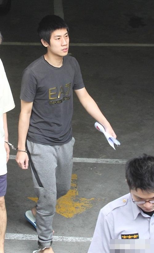 Uông Hoành Hiên (19 tuổi) bị Cảnh sát bắt giữ