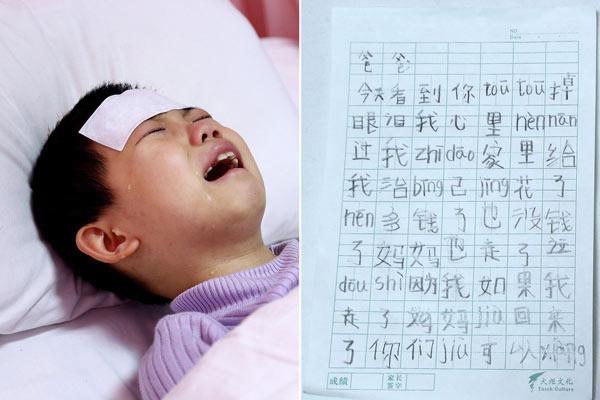 rơi nước mắt với bức thư gửi bố của cô bé 7 tuổi bị ung thư máu