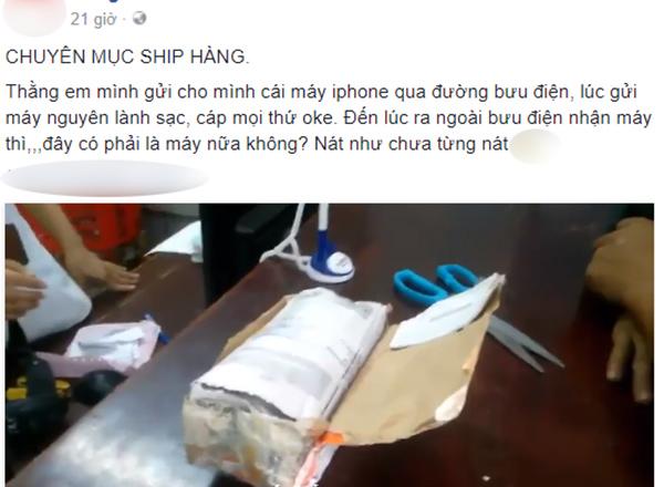 nhận Iphone qua đường bưu điện, chủ nhân khóc thét khi mở gói hàng