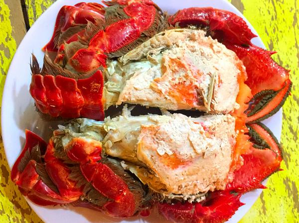 Cua Huỳnh Đế món ăn ngon hấp dẫn ở huyện đảo lý sơn