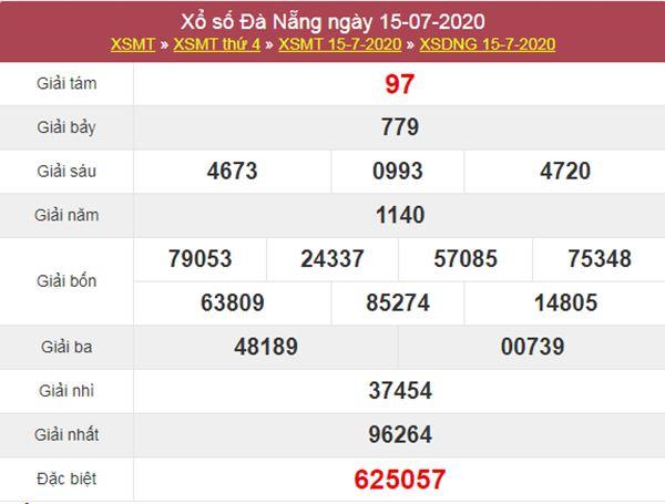 Thống kê XSDNG 18/7/2020 chốt KQXS Đà Nẵng thứ 7