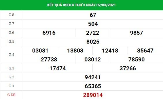 Soi cầu dự đoán XS Daklak Vip ngày 09/03/2021