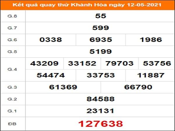 Quay thử kết quả xổ số Khánh Hòa 12/5/2021